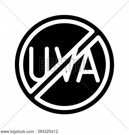 Uva Crossed Out Mark Glyph Icon Vector Illustration