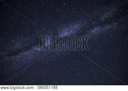 View Of The Starry Night Sky And The Milky Way. Concept Science, Astronomy