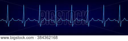 Electrocardiogram. Ecg Concept. Heartbeat And Pulse. Medicine And Health. Eps 10 Vector Illustration