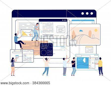 Web Content Management. Digital Blog, Social Media Designers And Writer. Blogging, Modern Education