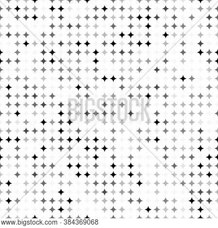 Seamless Geometric Vector Pattern. Modern Ornament With Black And White Stars. Geometric Abstract Pa