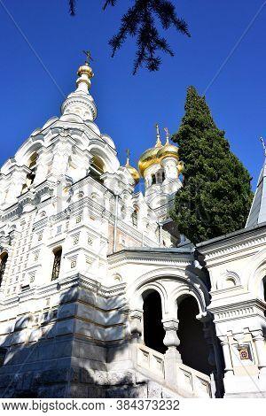 Yalta, Crimea September 6, 2017: Cathedral Of St. Alexander Nevsky In Yalta