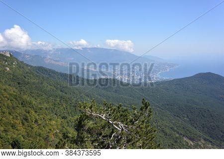 View From Mount Ai-petri On The Black Sea Coast. Yalta, Crimea