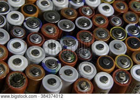 Pile Of Batteries Used To Be Recycled