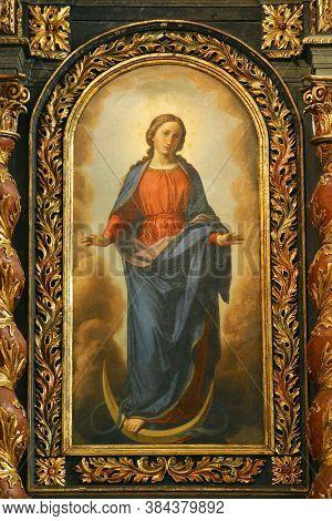 ZAGREB, CROATIA - NOVEMBER 03, 2012: Immaculate Conception of the Virgin Mary, church of St. Barbara in Vrapce, Zagreb, Croatia