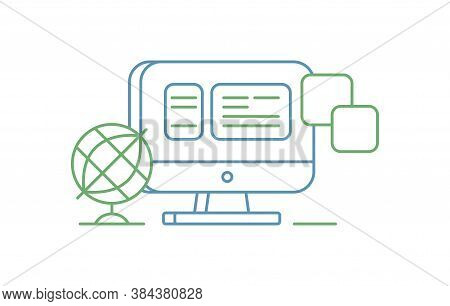 Vector Icon Style Illustration Of Cloud Computing Technology, Hosting, Cloud Management, Data Securi