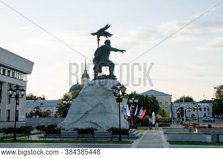 August 30, 2020, Russia, Kaluga, Monument To Ivan 3 - The First Monument To Tsar Ivan The Great In T