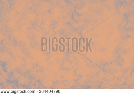Ceramic Background With Paint Brush Strokes Pattern. Light Orange Patchy Background