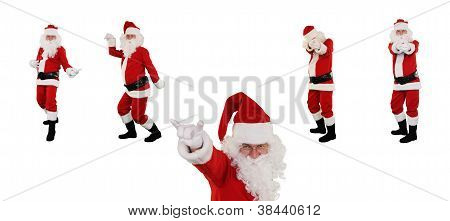 Santa Claus posing against white with Clipping Path