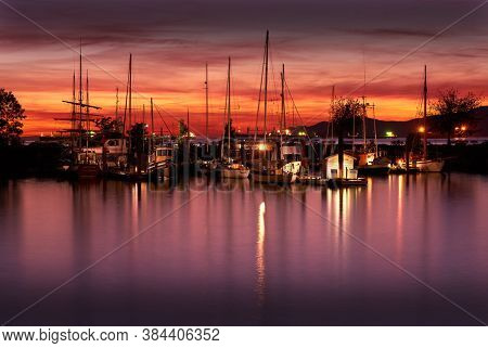 Vancouver, British Columbia, Canada - September 7, 2020. Heritage Harbour Hadden Park Vancouver.nigh
