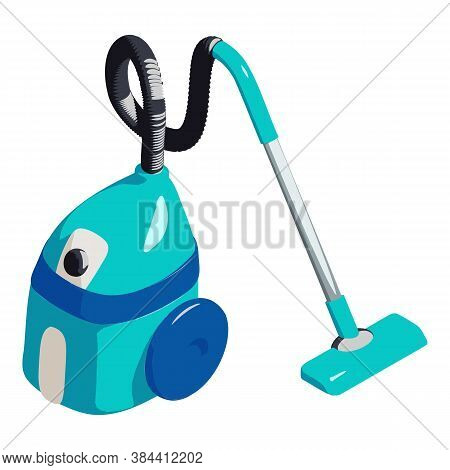 Vacuum Cleaner Icon. Isometric Of Vacuum Cleaner Vector Icon For Web Design Isolated On White Backgr