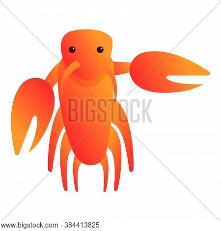 Delicacy Lobster Icon. Cartoon Of Delicacy Lobster Vector Icon For Web Design Isolated On White Back