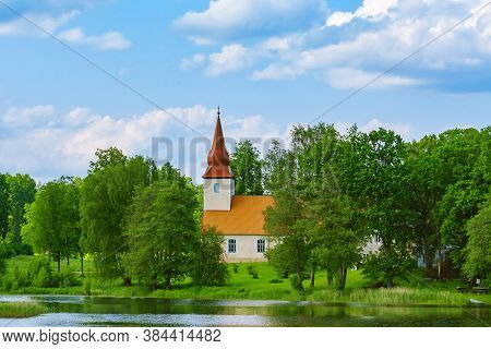Old Church On The Bank Of The Lake