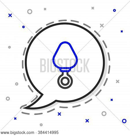 Line Anal Plug Icon Isolated On White Background. Butt Plug Sign. Fetish Accessory. Sex Toy For Men