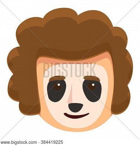 Face Painting Panda Bear Icon. Cartoon Of Face Painting Panda Bear Vector Icon For Web Design Isolat
