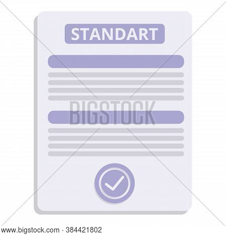 Accredited Standard Icon. Cartoon Of Accredited Standard Vector Icon For Web Design Isolated On Whit