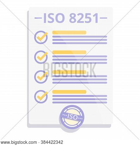Form Iso Standard Icon. Cartoon Of Form Iso Standard Vector Icon For Web Design Isolated On White Ba