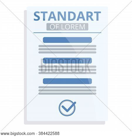Guideline Standard Icon. Cartoon Of Guideline Standard Vector Icon For Web Design Isolated On White
