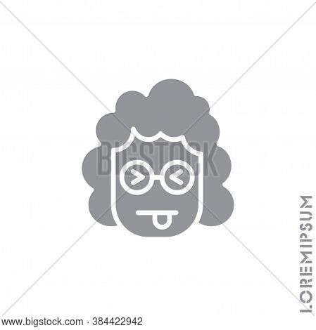 Squinting Face With Tongue Girl, Woman Icon. Style Sign For Mobile Concept And Web Design. Teasing S