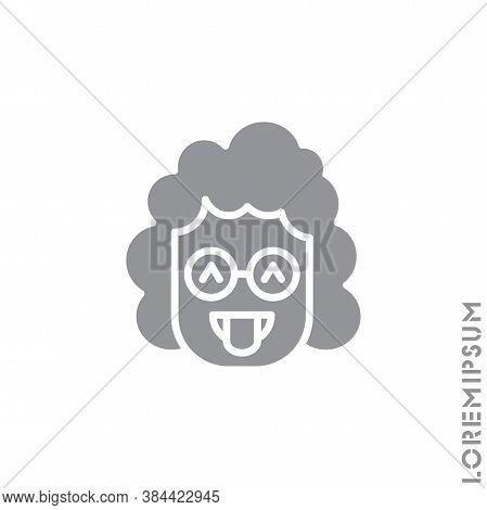 Teasing Emoji. Vector Girl, Woman Icon Of Cartoon Teasing Emoji With Tongue And Winking Eyes In Styl