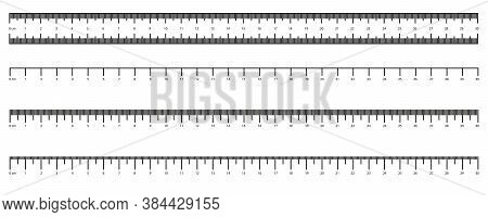 Metric Imperial Rulers. Centimeter. Measuring Tool. Measurements Scale Measurable Yardstick Tape Mea