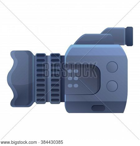 Cameraman Camcorder Icon. Cartoon Of Cameraman Camcorder Vector Icon For Web Design Isolated On Whit