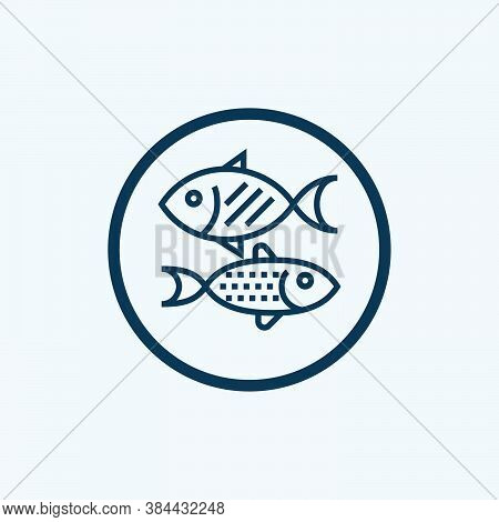 Fish Icon, Simple Icon. Vector Icon. Fish Icon With White Background. Fish Icon. Trendy And Modern I