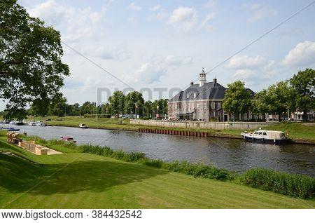 Waterside View Landscape In Ommen The Netherlands