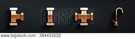 Set Industry Metallic Pipe, Industry Metallic Pipe, Industry Metallic Pipe And Water Tap Icon With L