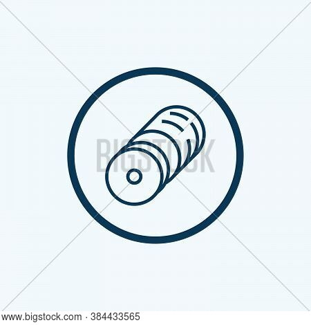 Ham Icon Isolated On White Background From Gastronomy Collection. Ham Icon Trendy And Modern Ham Sym