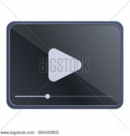 Online Video Editing Icon. Cartoon Of Online Video Editing Vector Icon For Web Design Isolated On Wh