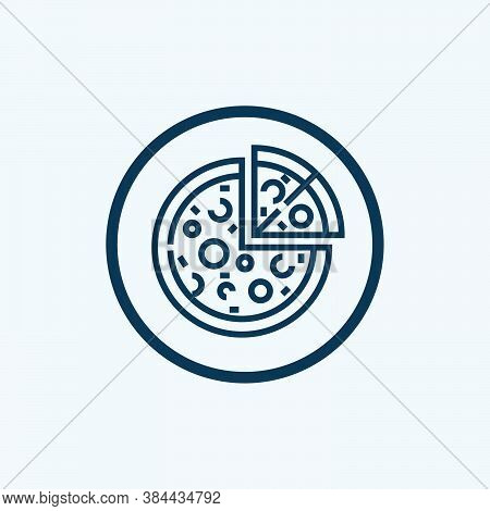 Pizza Icon Isolated On White Background From Gastronomy Collection. Pizza Icon Trendy And Modern Piz