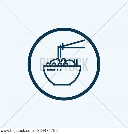 Ramen Icon Isolated On White Background From Japan Collection. Ramen Icon Trendy And Modern Ramen Sy