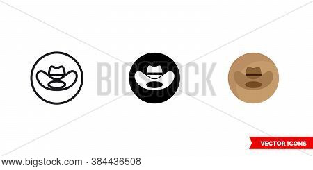 Country Music Genre Icon Of 3 Types Color, Black And White, Outline. Isolated Vector Sign Symbol.