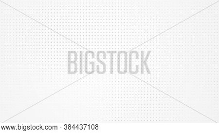 Dot White Gray Pattern Gradient Light Texture Background. Abstract  Technology Big Data Digital Back