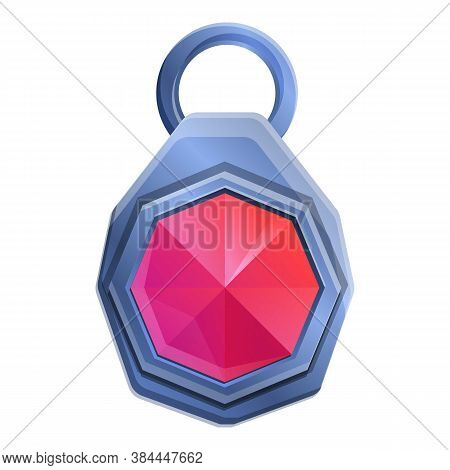 Ruby Talisman Icon. Cartoon Of Ruby Talisman Vector Icon For Web Design Isolated On White Background