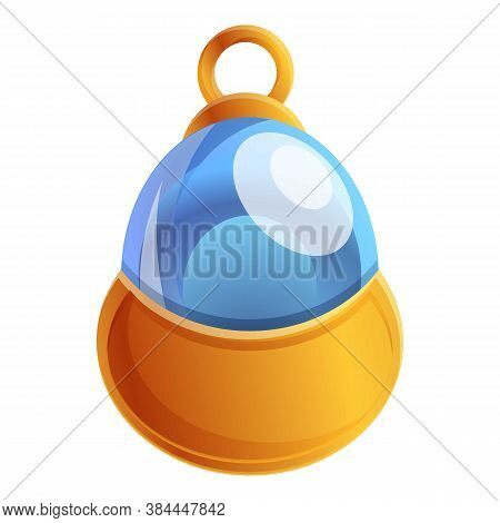 Glass Talisman Icon. Cartoon Of Glass Talisman Vector Icon For Web Design Isolated On White Backgrou