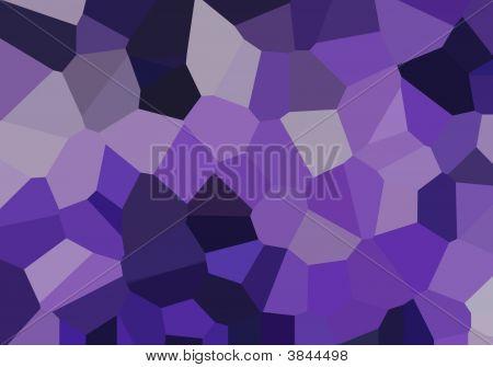 Grandes cristales púrpuras