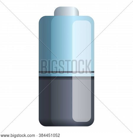 Lithium Battery Icon. Cartoon Of Lithium Battery Vector Icon For Web Design Isolated On White Backgr