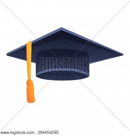 Cap Graduation Hat Icon. Cartoon Of Cap Graduation Hat Vector Icon For Web Design Isolated On White