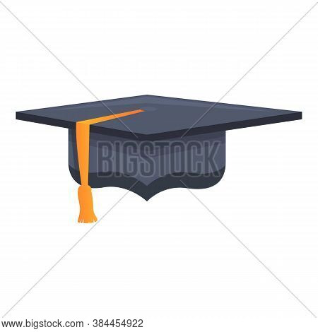 Education Graduation Hat Icon. Cartoon Of Education Graduation Hat Vector Icon For Web Design Isolat