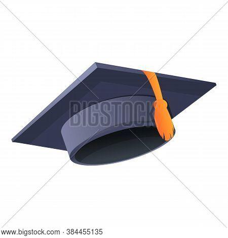 Learning Graduation Hat Icon. Cartoon Of Learning Graduation Hat Vector Icon For Web Design Isolated