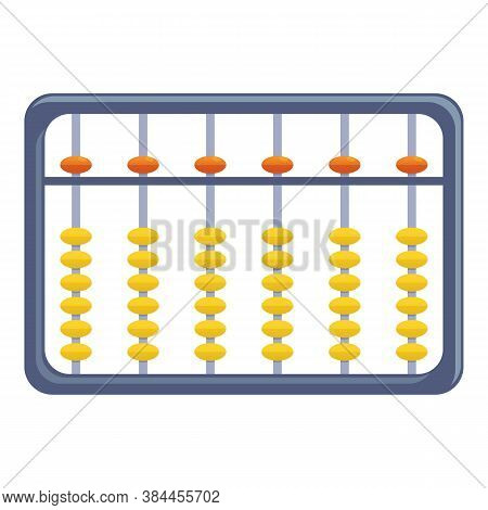 Arithmetic Abacus Icon. Cartoon Of Arithmetic Abacus Vector Icon For Web Design Isolated On White Ba