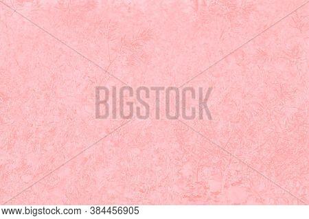 Floral Patchy Background, Pale Pink Color, Pastel