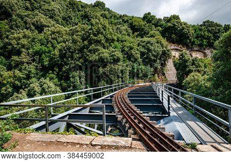 The Historic De Chirico Bridge, Near Milies Station, In Mount Pelion, Thessaly, Greece.