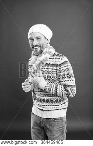 Winter Fashion. Knitted Accessories. Winter Weather Style. Menswear Concept. Fashion Collection. Fas