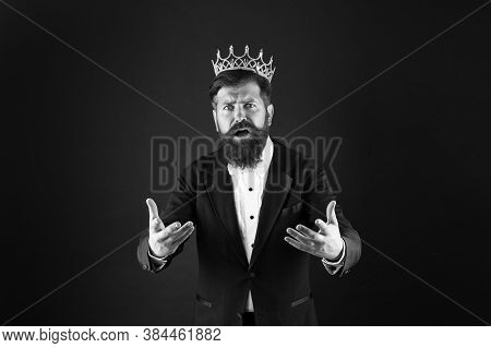 Business Success Concept. King Of Style. Best Man On Earth. Achieving Business Success. Royal And Lu