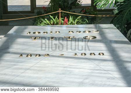 Belgrade, Serbia - September 12, 2014: Josip Broz Tito Grave In Its Mausoleum, Kuca Cveca, In Belgra