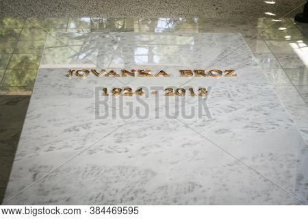 Belgrade, Serbia - September 12, 2014: Jovanka Broz Grave In Its Mausoleum, Kuca Cveca, In Belgrade.