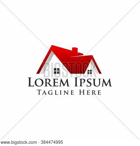 Real Estate Vector Logo. Roof Logo. Building Architecture Logo Design. Real Estate Vector Logo Templ